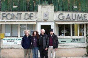 Steve Burman on left at Font de Gaume