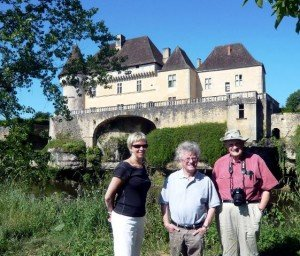 Our local chateau - Steve (centre) with guests