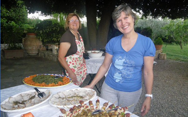 Special friends in Chianti
