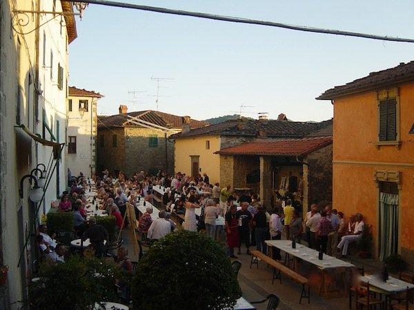 Village dinner at Casabasciana