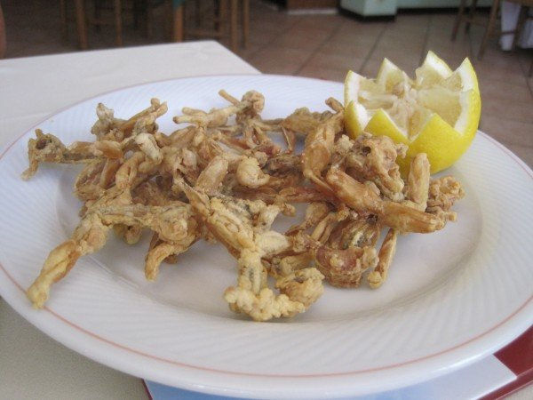 Fried frogs in Lomellina