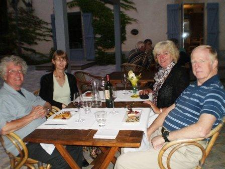 Steve, Judie, Kathy & Charley at Le Moulin