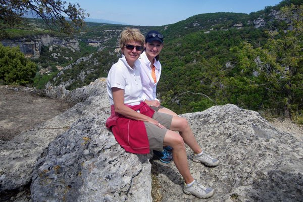 At the top - Fort de Buoux