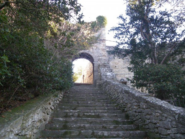 Steps to Bonnieux's old church