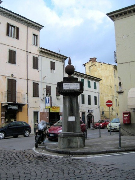 Street sign to Bagni and Castelnuovo