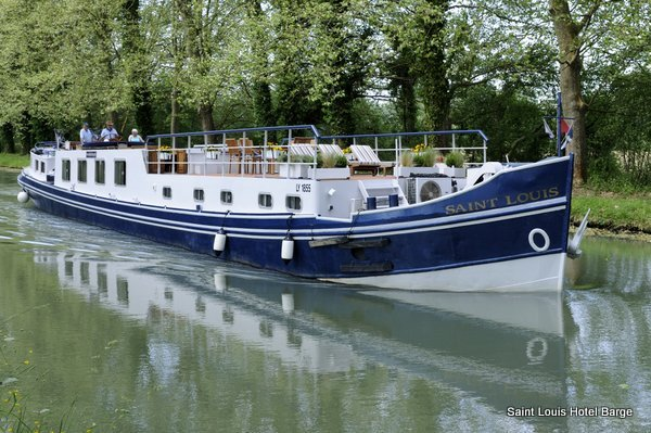 The Saint Louis - an elegant converted barge, now operating as a luxury Hotel Barge