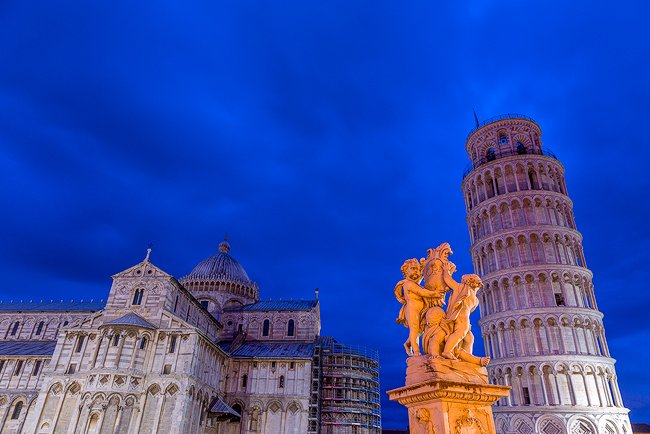 "The ""Field of Miracles"" in Pisa shot at ""blue hour."""