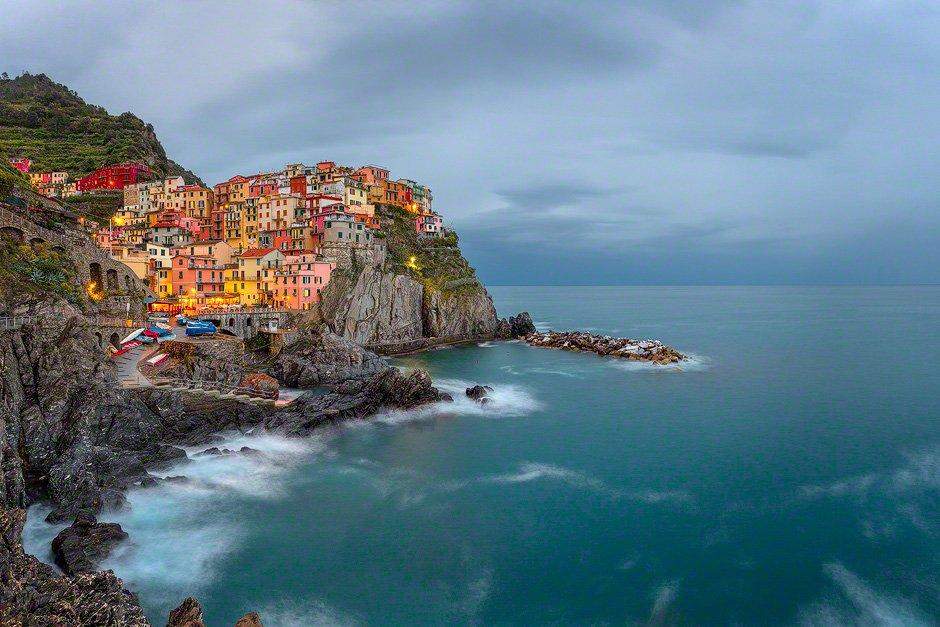 """""""Manarola Blue"""", Cinque Terre, Italy"""