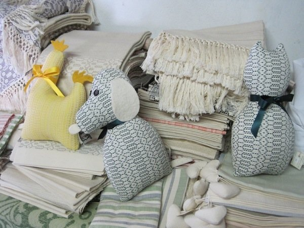 ...into household linens that his wife Nada finishes.