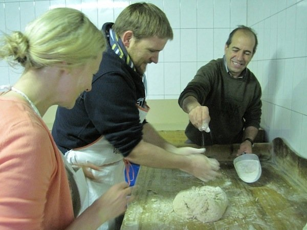 Baking bread with Paolo