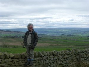 Steve on Hadrian's Wall - great training for his Macmillan Cancer Support Trek