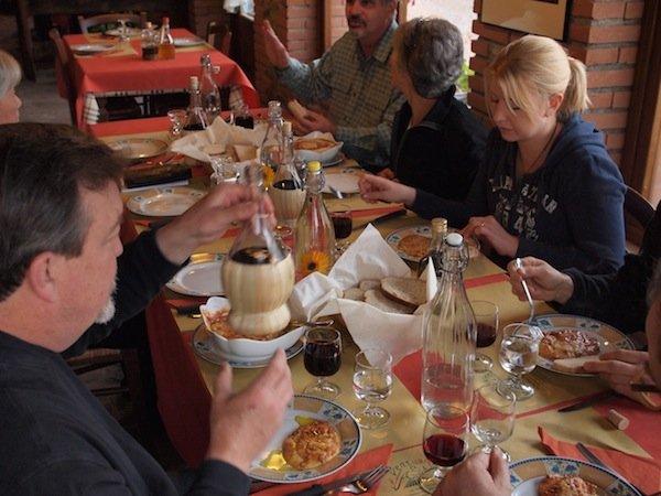 Our salumi course enjoys dinner at Venturo
