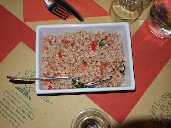 Ismaele's farro served at the restauaran