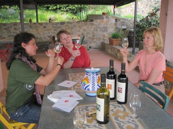 Wine tasting at Colleverde