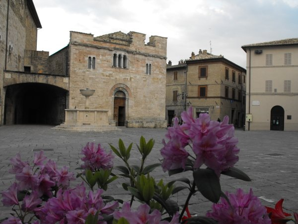 Bevagna's charming main piazza