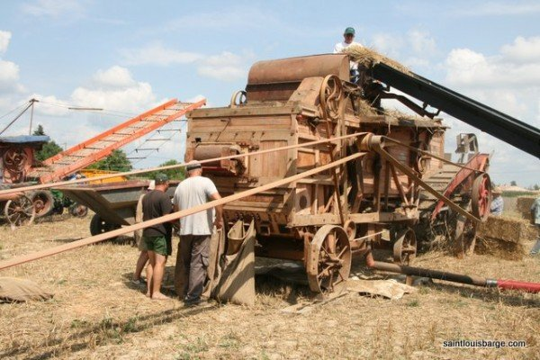 Battage a l'ancienne - threshing wheat