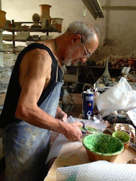 Guido Nesti, fourth generation potter