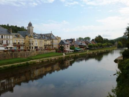 Montignac when the river is calm and quiet.