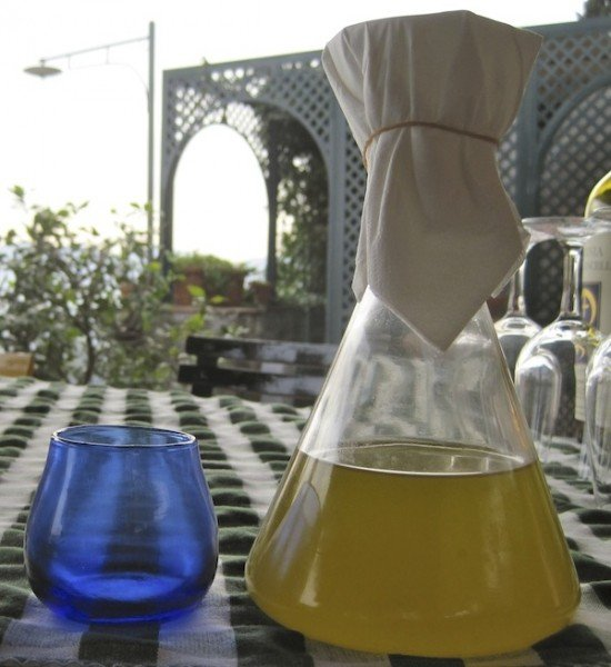 Blue glass of professional oil tasters prevents them being influenced by the colour of the oil