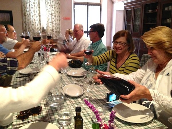 A toast to lunch at Alle Camelie