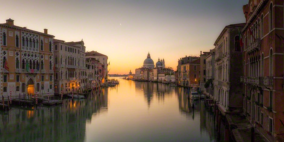 Sunrise from the Accademia Bridge, Venice