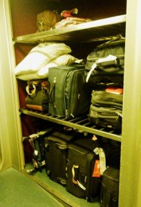 Luggage storage on a TGV train