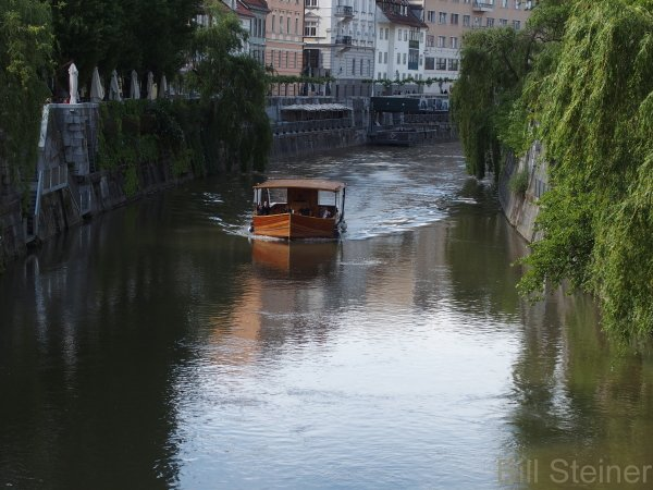 There is a cafe culture along the river in Ljubljiana