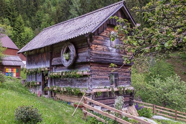 Rustic barn, Logarska Dolina, Slovenia