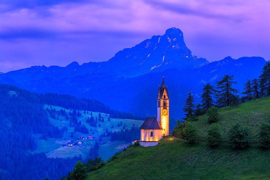 St. Barbara Church, Wengen, Val Badia, Alto Adige, Italy
