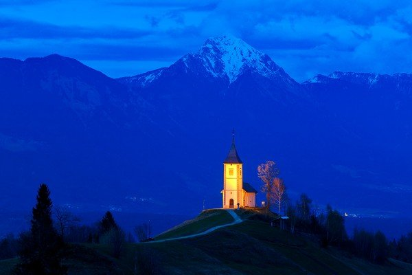 The Church of St. Primoz, Slovenia