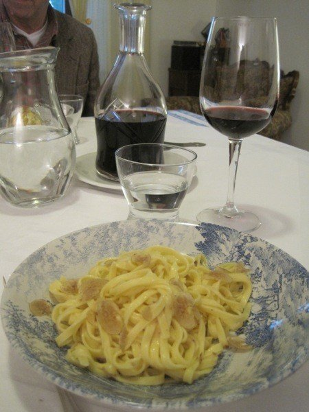 Tagliatelle al tartufo bianco—the simplest dishes are the best.