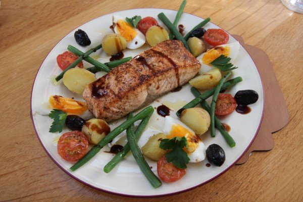 Janes' take on salmon Nicoise