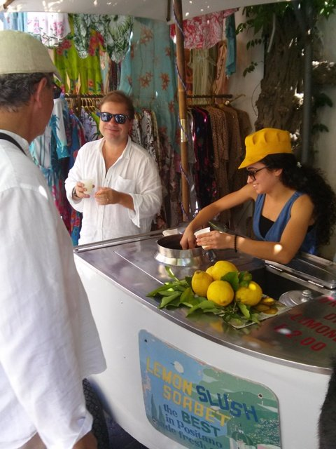 07171503 kirk bought lemon granitas from the girl and the boat at top of town