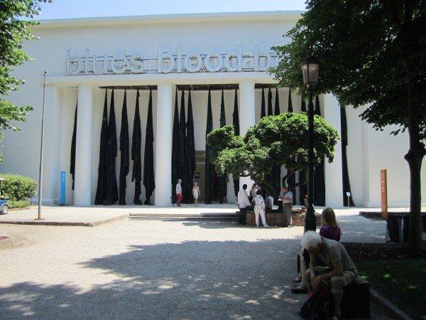 The entrance to the main Giardini Pavilion