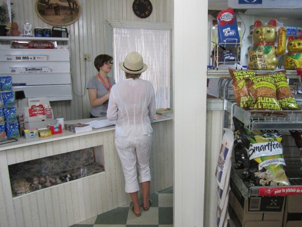 The interior at first looks like any cheap roadside convenience store, complete with chips and lottery tickets