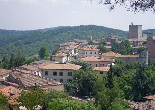 The village of Castellina-in-Chianti