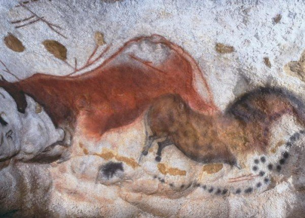 Chinese horse scene from Lascaux (jphoto courtesy of Montignac Tourist Office)
