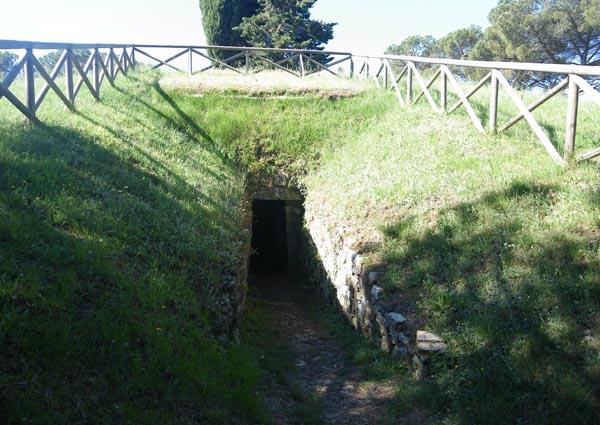 Etruscan tomb at Montecalvario