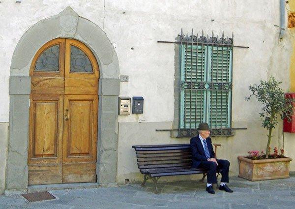 Sunday morning in Castellina-in-Chianti