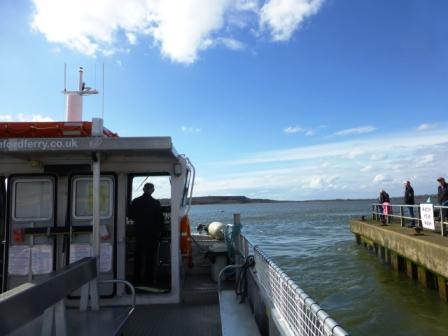 On the Mudeford Ferry heading to Hengisbury Head