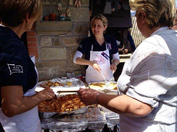 Lasagne and polenta