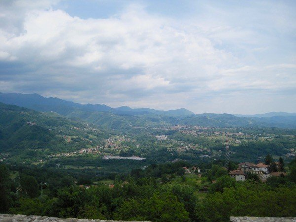 The Serchio Valley and the Apennines beyond