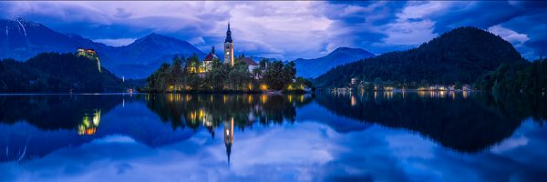 St. Mary's on the tiny island in the middle of Lake Bled in Slovenia