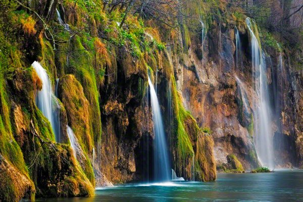 Beautiful waterfalls in Plitice Lakes National Park