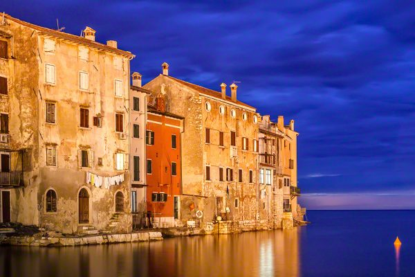 Rovinj on the Istrian peninsula in Croatia at the magical Blue Hour