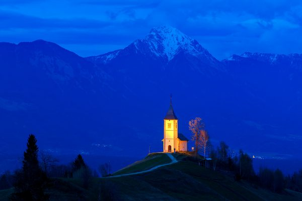 Chapel of St. Primoz high in the Slovenian Alps