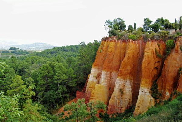 Roussillon cliffs