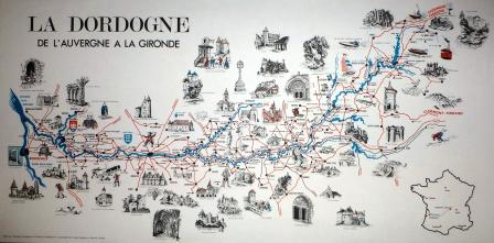 Map of the Vezere & Dordoge Valleys