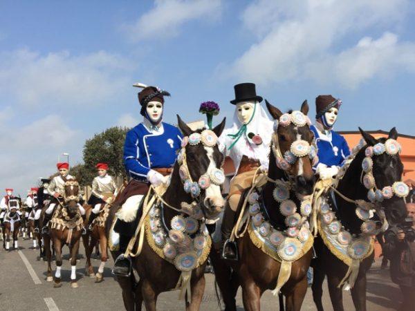 Sa Sartiglia masked horsemen
