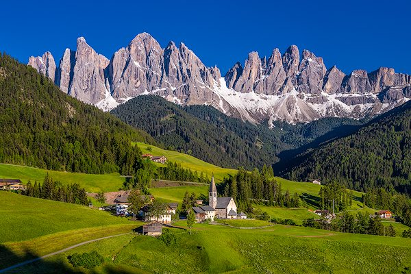 Church of St. Magdalena, Dolomites, Italy